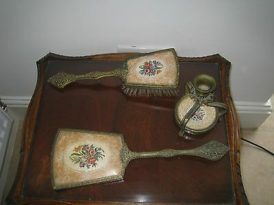 Antique Embroidered Dressing Table Set England,c.1900-1910
