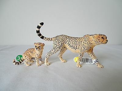 schleich 2016 14746 14747 CHEETAH FEMALE + CALF all 2016 and 2017 new releases!!