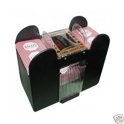 6-Deck Cards Shuffler Automatic Professional Battery Operated Set Free Shipping