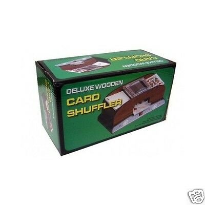 Trademark Poker 1 / 2 Deck Delux Playing Cards Shuffler Wooden Set Free Shipping