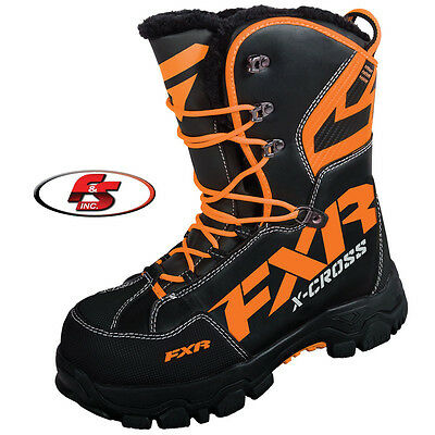 2017 FXR XCross Boot Black / Orange Size 10 Snowmobile ATV Boots