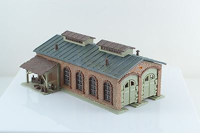 Faller 2732 2 Stall Engine Shed Built Up Z Scale (Z1)