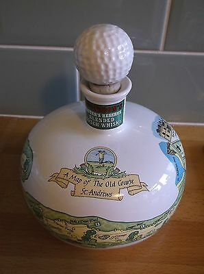 McGIBBON'S MASTERS RESERVE WHISKY ST ANDREWS GOLF DECANTER
