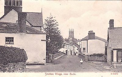 Cornwall : BUDE - STRATTON. Early card by Stengal posted 1907.