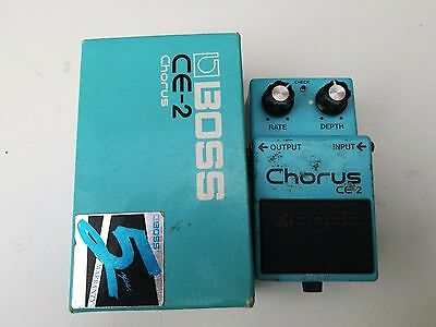 Vintage Boss Ce2 Chorus With Box - Free Next Day Delivery In The Uk