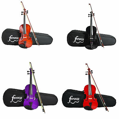 Forenza Uno Series Violin Outfit with Case, Bow and Rosin. 4/4 - 1/4 Size