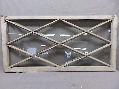 Antique Window Diamond Sash Pattern Shabby Cottage Chic Old Vintage 24x48 58-17R