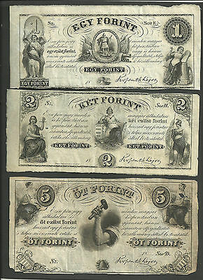 3 notes from Hungary....1800s.