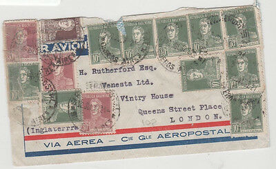 B315 1932 ARGENTINA AIR Buenos Aires Cover London GB {Samwells-Covers} PTS