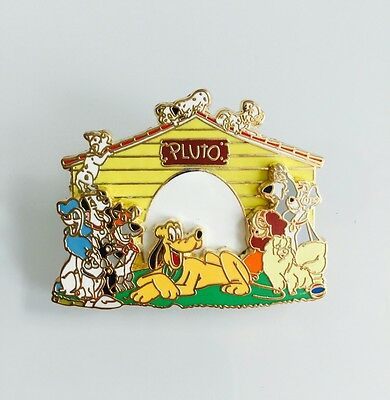 Disney Dogs Pluto 101 Dalmatians Lady Tramp Doghouse Pin 37986