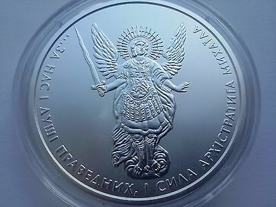 "Ukraine,One Hryvnya, ""Archangel Michael"" 1 oz 999,9 ,Silver 2016 year"