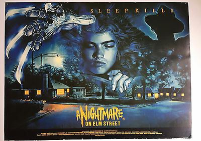 A Nightmare on Elm Street UK Quad poster 1985 from Palace offices card unique