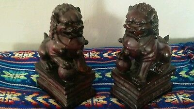 """Vintage Asian Andrea by Sadek  foo dogs bookends, 4"""" X 3"""" X 7"""", collectibles"""