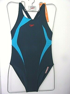 """NEW WITH TAGS SPEEDO GIRLS ALLOY ENDURANCE  SWIMSUIT UK SIZE 30"""" CHEST 75cm"""