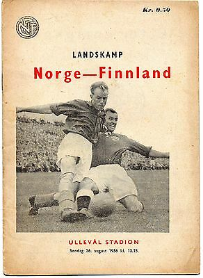 1956-Norway V Finland-Nordic Football Championship-International Programme