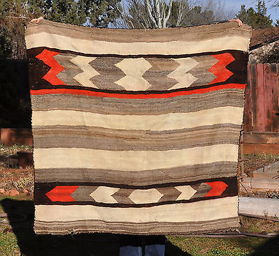 Old Navajo Indian Striped Chiefs Blanket Rug Transitional Wools -  Variance