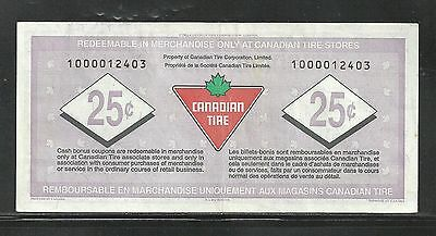 Canadian Tire Replacement Note  1000012403