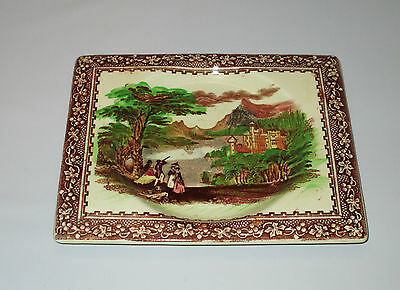"Royal Staffordshire The Biarritz 6.5"" Rectangular Plate Jenny Lind Multi Colour"