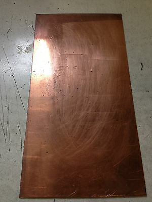 "Copper Sheet 1/8"" X 2"" X 5"""