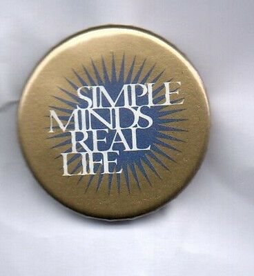 SIMPLE MINDS Real Life BUTTON BADGE Scottish Rock Band 25mm Pin 80s