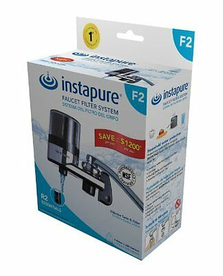 InstaPure F2BCT3P-1ES Faucet Mount Water Filter System, Chrome...NEW
