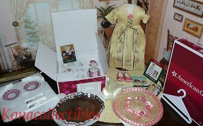 American Girl Felicity Tea Lesson Outfit & Tea Set- 2 New Sets!
