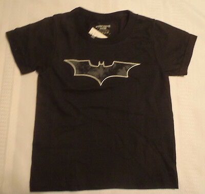 UNDEROOS Boys Size 2/4 Batman Black Cotton Shirt NWT Short Sleeve