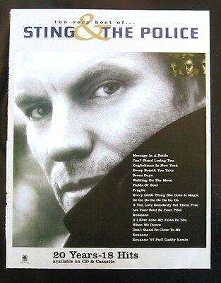 The Very Best of Sting & the Police CD & Cassete Release Print Ad Magazine 1997