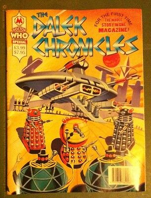 The Dalek Chronicles Comic Magazine Doctor Who Terry Nation Marvel Unread & Mint