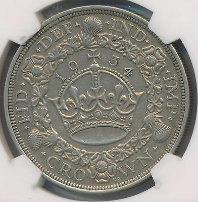 Great Britain Crown George V 1934 NGC VF30 - Key Date - Scarce