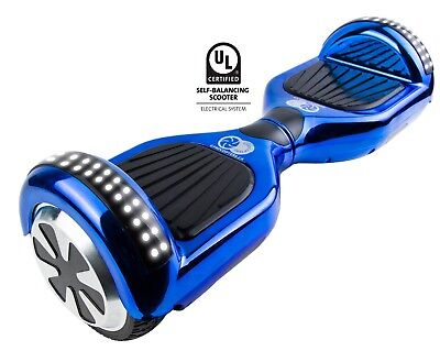 UL certified hooverboard Aqua Blue with top speed of 15 mph + Bluetooth music