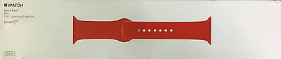 New! Apple Watch Sport Band (38mm, PRODUCT(RED), Stainless Steel Pin, Sm/Med/Lg