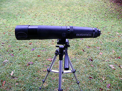 Bushnell Natureview 15-45X60 Spotting Scope, New Tripod, Camera Adaptable, Case