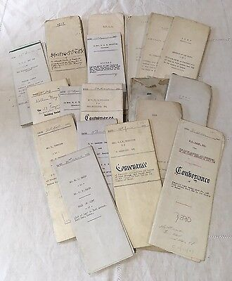 Antique Indenture Mortgage Documents Many Handwritten, Large Collection, London