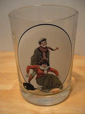 Collector's Norman Rockwell Glass SKATERS Feb 7, 1920 Saturday Evening Post NEW