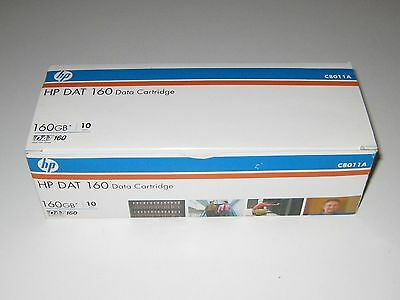 Box of 10 HP DAT 160 Data Cartridges C8011A DAT160 80GB/160GB New