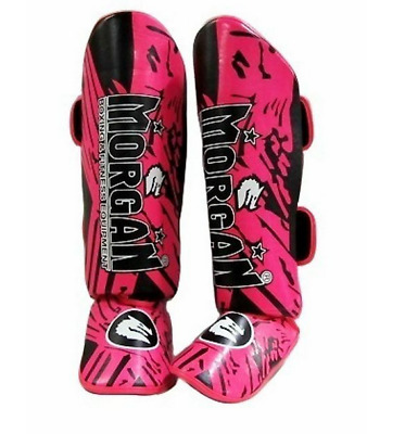 MORGAN ENDURANCE MMA SHIN & INSTEP guards MUAY THAI  S M L XL LADIES GIRLS PINK