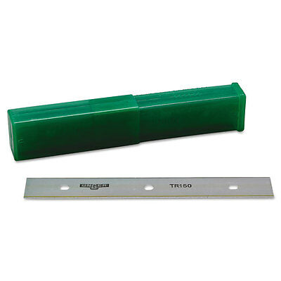 "Unger ErgoTec Glass Scraper Replacement Blades 6"" Double-Edge 25/Pack TR15"