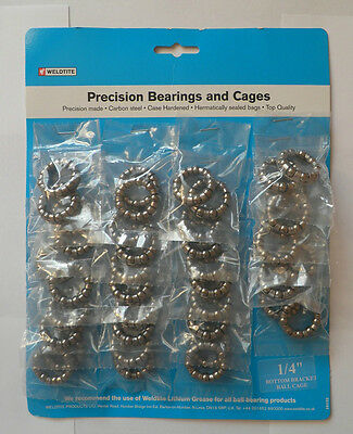 "Weldtite Caged Bike Ball Bearings  1/4"", 5/32"", 3/16"", 5/16 - Ref 0615"
