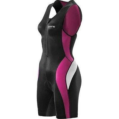 Skins - Tri400 - Women's Compression Sleeveless Front Zip Tri Suit - Size Small