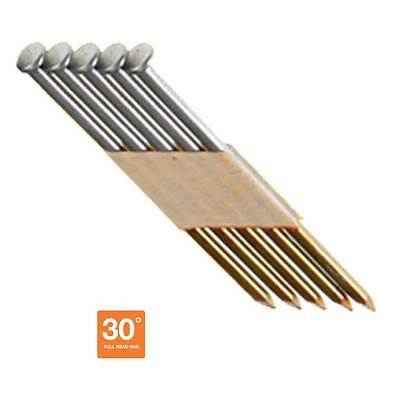 "2-3/8"" Offset Head Framing Nails, Stainless Steel, 30° Paper Tape, 1000 Nails"