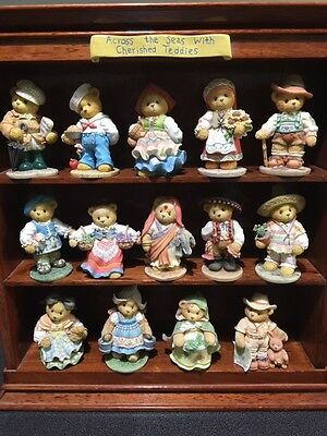 Across the Seas with Cherished Teddies collection with original display case.