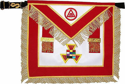New Masonic Royal Arch Past High Priest Php Apron Hand Embroidered