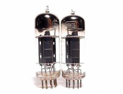 PAIR 12BH7A RCA Half-Wing Black Plate D Gett Tubes McIntosh 50s USED Test Strong