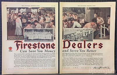 1927 Firestone Dealers Repair School Vulcanizing Rubber Tires Vintage Print Ad