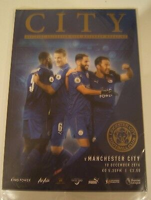 LEICESTER CITY vs MANCHESTER CITY  MATCH DAY PROGRAM  no 12 NEW SEALED  10.12.16