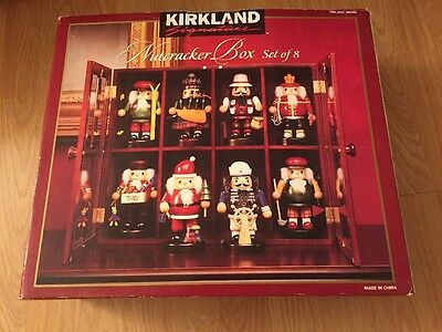 Kirkland Signature Nutcracker Box Set Of 8 In Wooden Decorative Case