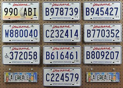 10 LOUISIANA Mixed Type License Plates Tags Signs Man Cave Decor Art LOT 990