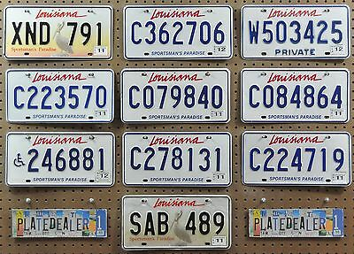 10 LOUISIANA Mixed Type License Plates Tags Signs Man Cave Decor Art LOT 791