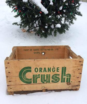 Vintage Wooden Wood ORANGE CRUSH Bottle Crate - Box - From Gaspé, Québec, Canada